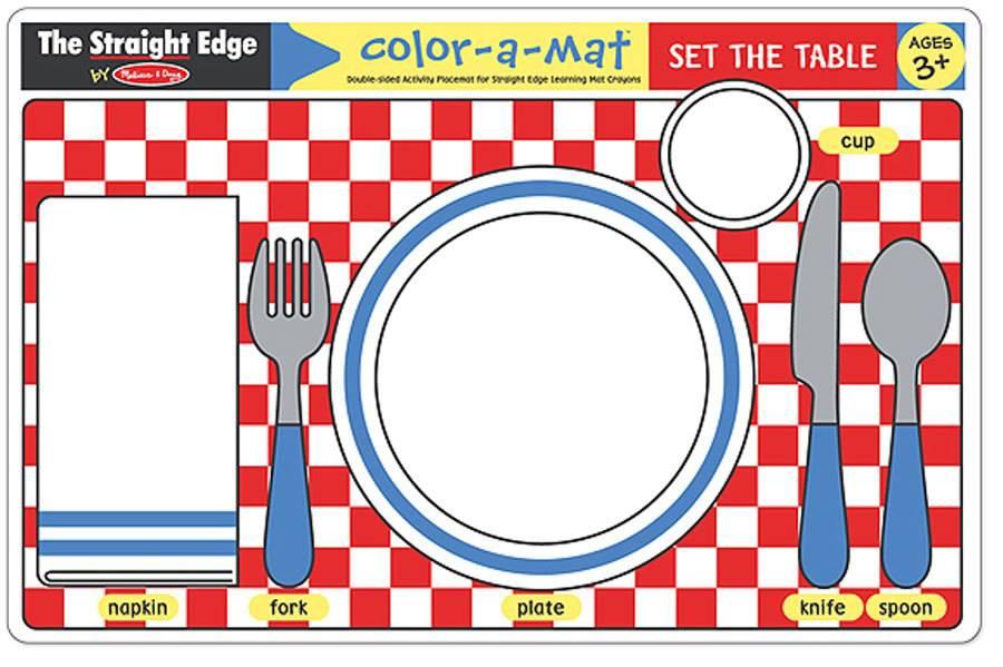 Melissa & Doug Color-A-Mat Set The Table