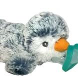 Raz Baby JollyPop Pacifier - Grey Penguin