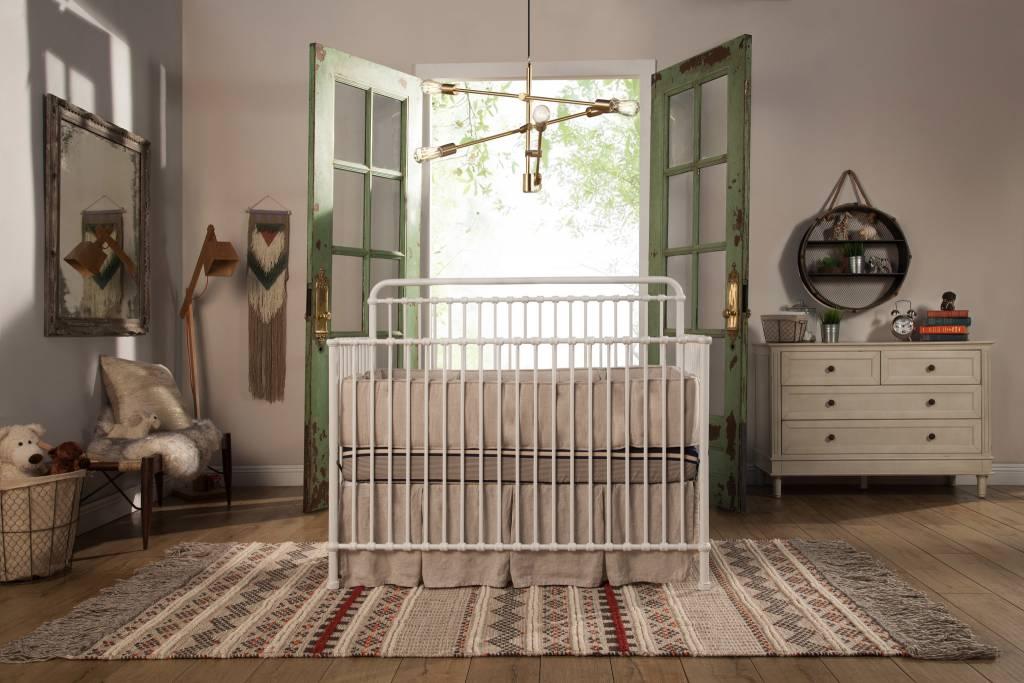 ... Franklin U0026 Ben Winston 4 In 1 Convertible Crib Distressed White ...