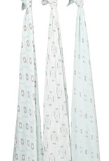 Aden & Anais Aden & Anais Petunia Pickle Bottom Silky Soft Swaddles 3 Pack