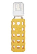 Life Factory 9 oz Glass Baby Bottle with Protective Silicone Sleeve