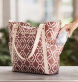 JJ Cole Red Trellis Bucket Tote Diaper Bag