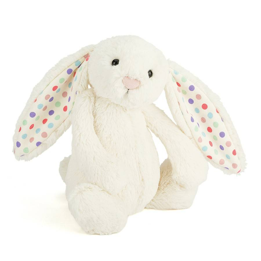 Bashful Bunny Cream Dot Medium