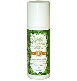 Jungle Screen: All natural SPF 30+ sunscreen with all natural Bug Repellant + glitter 3oz