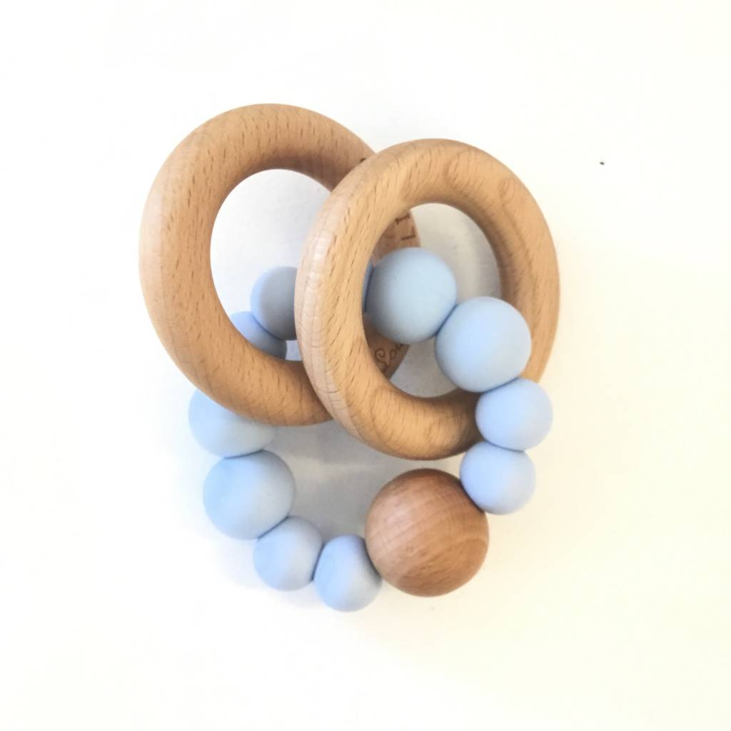 Loulou Lollipop Bubble Silicone and Wood Teether