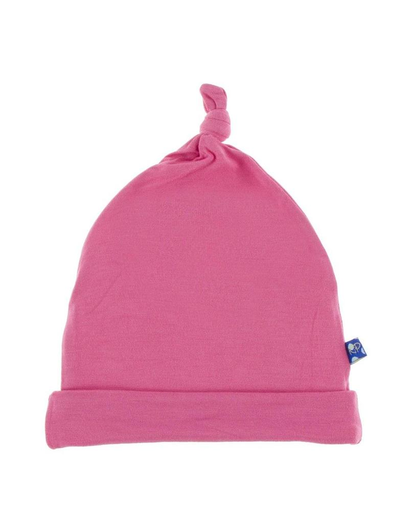 Kickee Pants Solid Knot Hat Flamingo