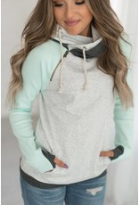 AmpersandAve DoubleHood™ Sweatshirt  - Baseball Mint