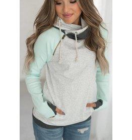 AmpersandAve DoubleHood™ Sweatshirt  - Baseball Mint