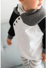 AmpersandAve Kids DoubleHood™ Sweatshirt - ColorBlock Black