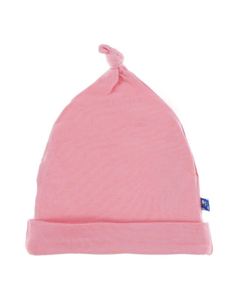 Kickee Pants Solid knot hat strawberry