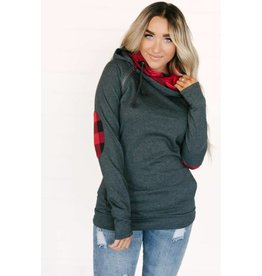 AmpersandAve DoubleHood™ Sweatshirt - Grey Buffalo