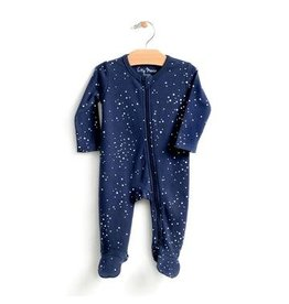City Mouse Night Sky Footed Romper w/ zip