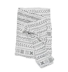 Loulou Lollipop LouLou Lollipop Premium Bamboo Swaddle - Mudcloth white