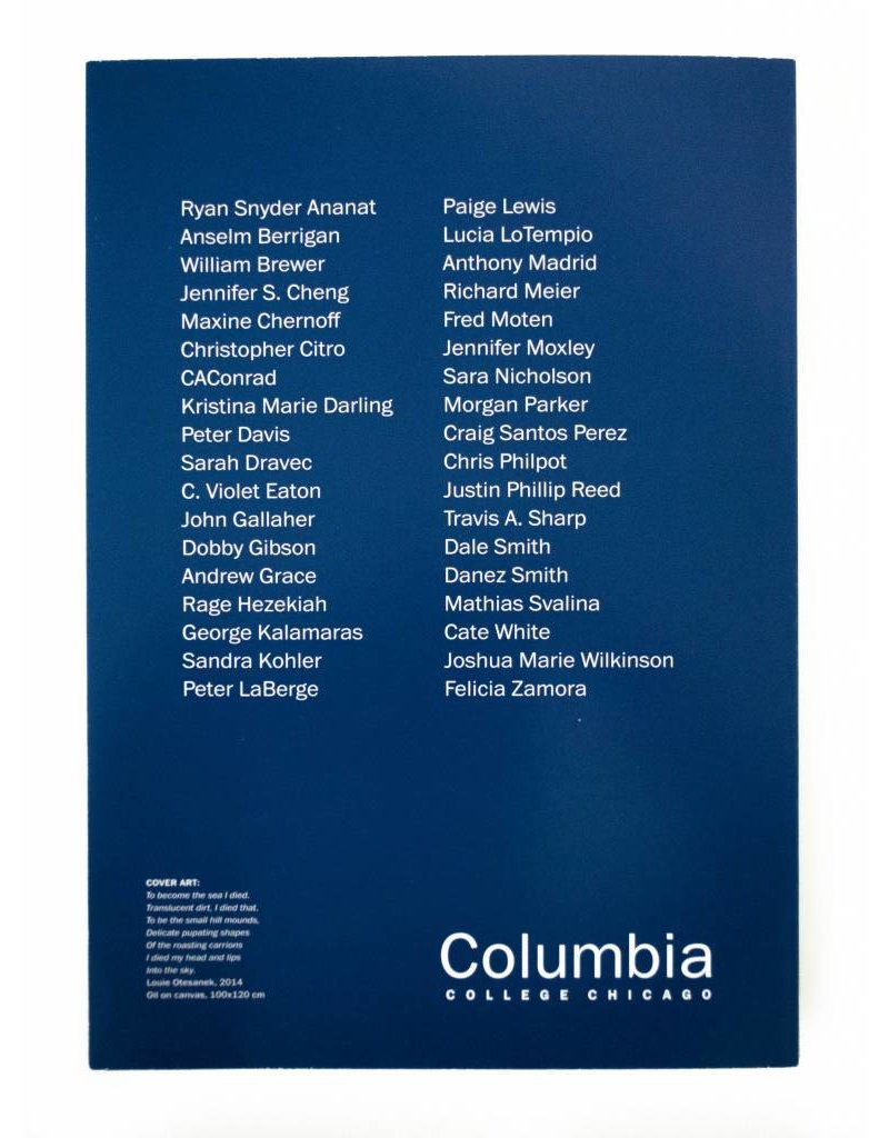 Literature Columbia Poetry Review No. 29, Creative Writing