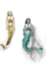 Fine Art Tiny Green wall mount mermaid, Erin Cramer