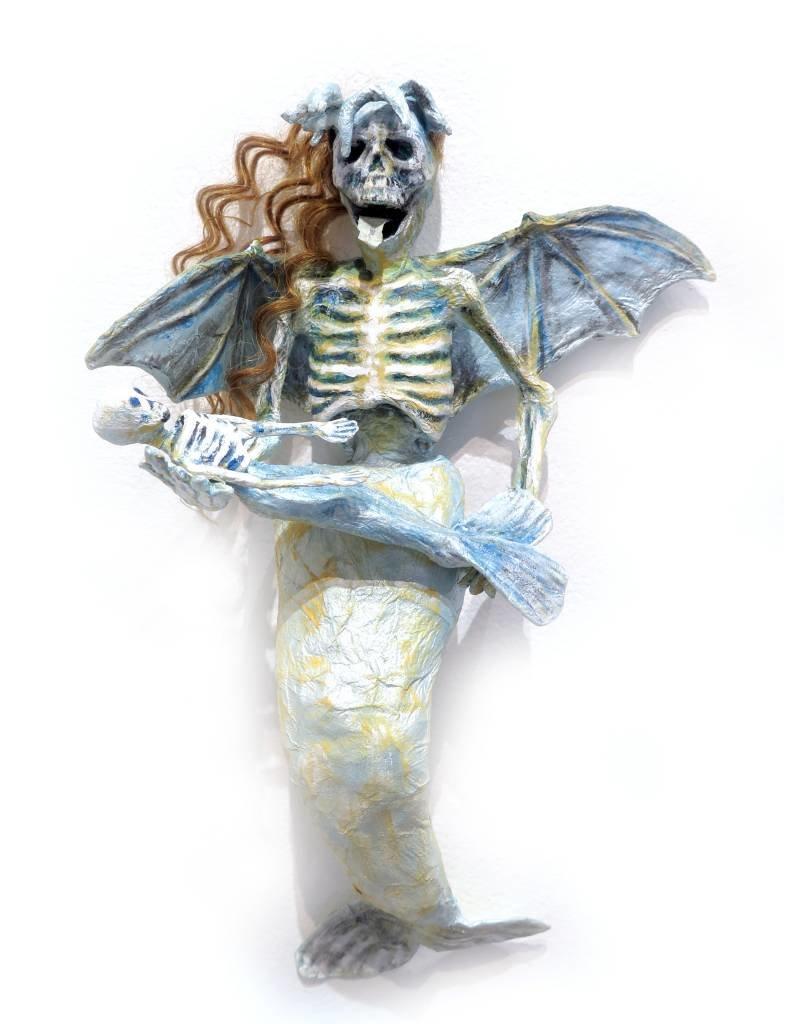 Fine Art Mother mermaid, wall mount sculpture, Erin Cramer