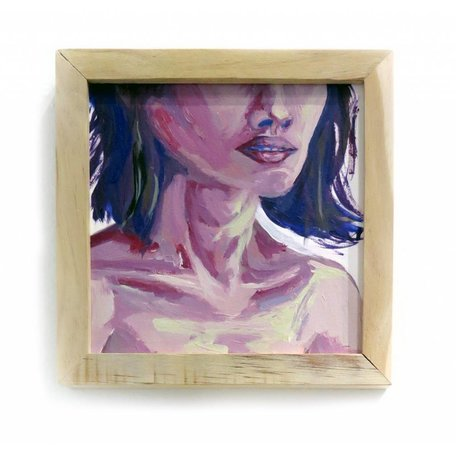 """To present as an object"" framed painting by Clarissa Chevalier"