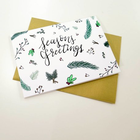 Seasons Greetings card by Rachel Van Dyke