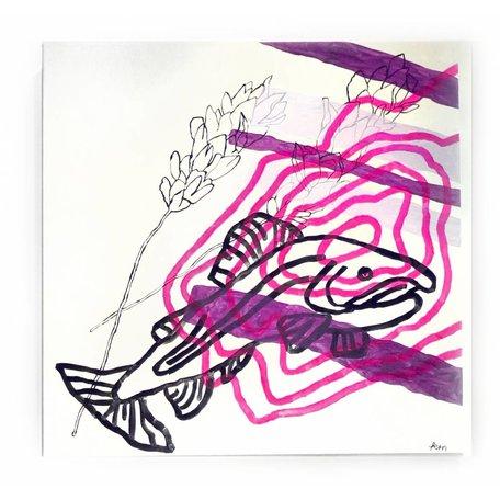 "Memory At Once II (lavendar) by Keara McGraw, 24"" x 24"