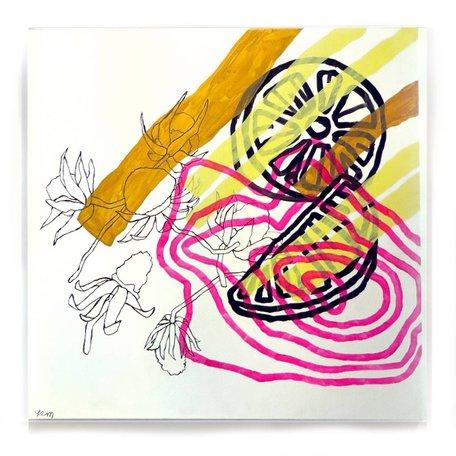 "Memory At Once I (chamomile) by Keara McGraw, 24"" x 24"
