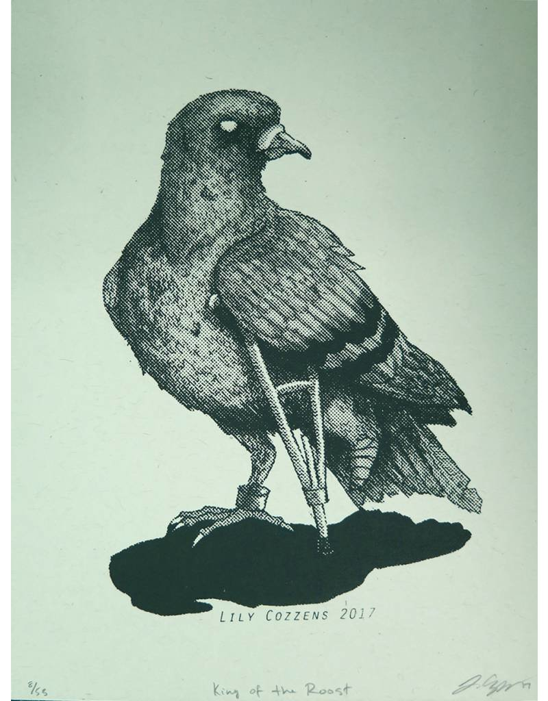 "Fine Art ""The Usual Suspects Pt. 1"" (Roost/Pigeon) editioned screenprint, Lily Cozzens"