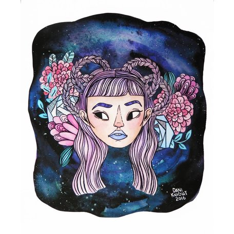 """Galaxy Braid"" illustration by Dani Knight"