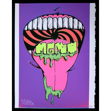 MGMT - Mouth, screenprint, JJ McLuckie