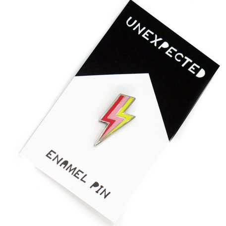Lightening Bolt Enamel Pin by Jordan Hasek