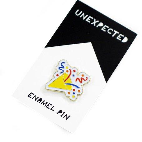 Confetti Popper Emoji Enamel Pin by Jordan Hasek