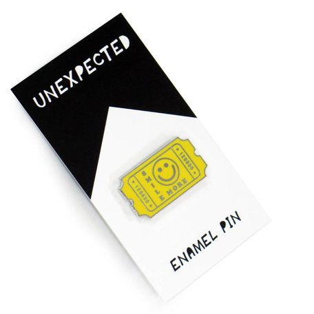 Yellow Smile Enamel Pin by Jordan Hasek