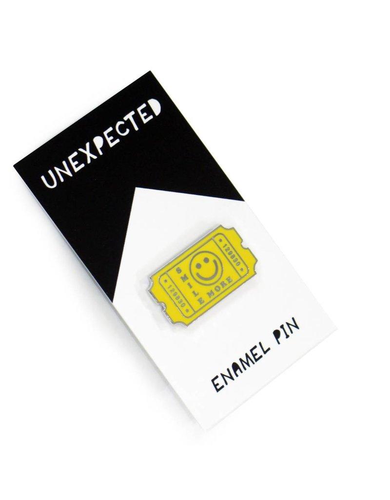 Accessories Yellow Smile Enamel Pin by Jordan Hasek