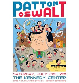 Ivan Brunetti Set of 2 Patton Oswalt Digital Prints (Carnegie Hall and The Kennedy Center) by Ivan Brunetti