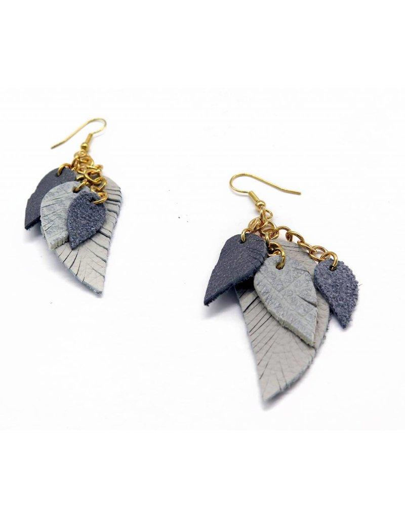 Maria Belokurova Layered gray earrings, Maria Belokurova