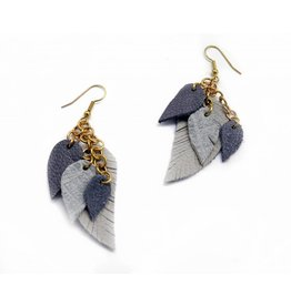 Maria Belokurova Layered gray earrings, Maria Belokurova
