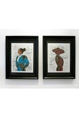"""Sam Kirk """"La Diosa De Oro"""" FRAMED Print limited Edition of 40, Signed and Numbered by Artist, 16 x 20"""
