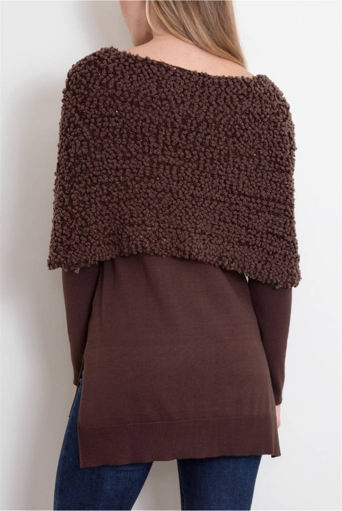 Noelle Shoulder Wrap Sweater
