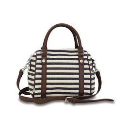 Sloane Ranger Denim Stripe Mini Satchel