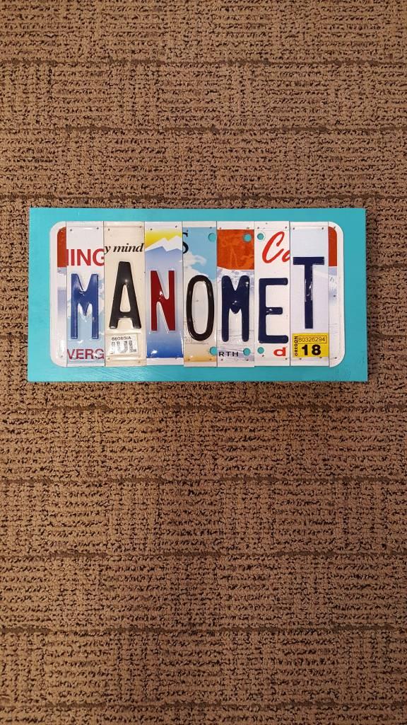 The Dash N Between MANOMET Lic Plate