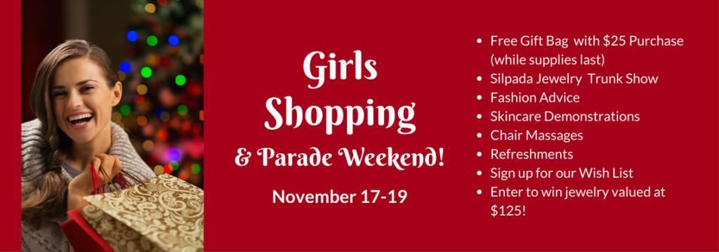 Girls Shopping & Parade Weekend