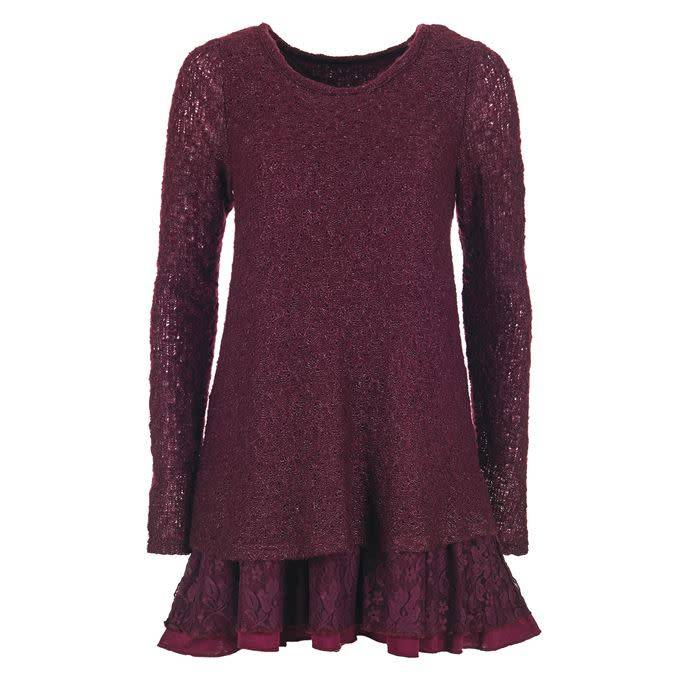 Coco + Carmen Long Sleeve Lace Tunic