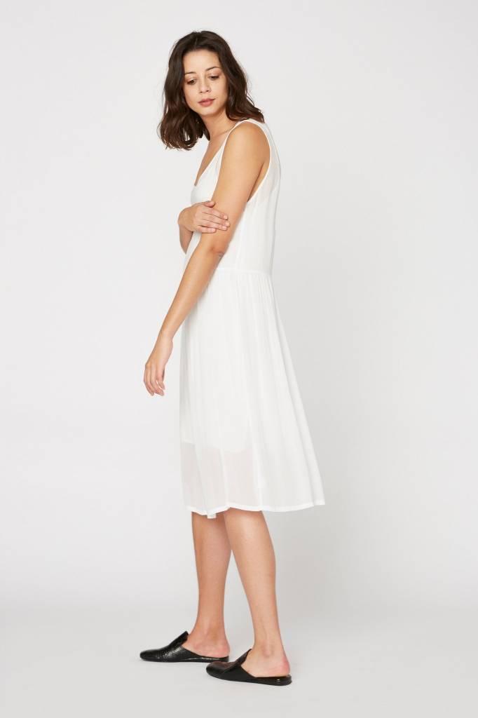 Lacausa Folk Dress White