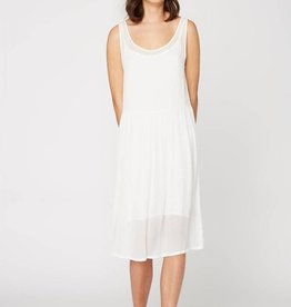 Lacausa Folk Dress White