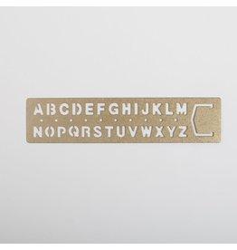 Brass Alphabet Bookmark