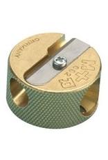 Sharpener Brass 2-Hole Round Sharpener