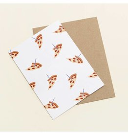 Card Pizza Birthday Card