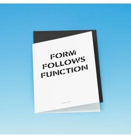 Card Form follows Function Card