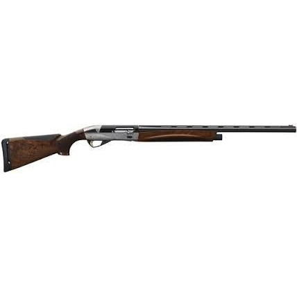 "Benelli Benelli ETHOS Shotgun Engraved Nickel-Plated Receiver 12GA 28"" Barrel AA-Grade Satin Walnut Stock"