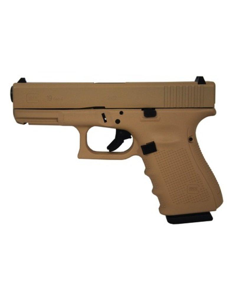 Glock Glock G19 Gen4 9mm 4.01‰Û USA 3-15rd SAND