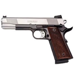 "Smith & Wesson Smith & Wesson 1911 Pro Series .45 ACP 5"" Barrel Stainless Finish Wood Grips"
