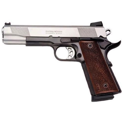 """Smith & Wesson Smith & Wesson 1911 Pro Series .45 ACP 5"""" Barrel Stainless Finish Wood Grips"""